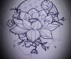 sketch and tattoo image