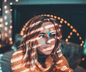 lights, photography, and girl image