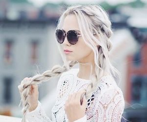 hair, white, and braid image