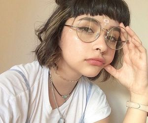 glasses, girl, and aesthetic image