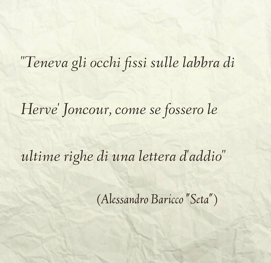 Alessandro Baricco Seta Uploaded By Fudolceilsuoprofumo