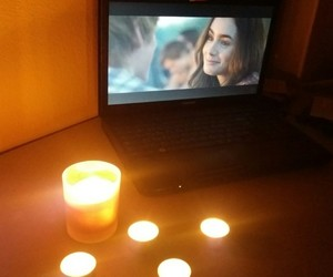 apple, candles, and love image