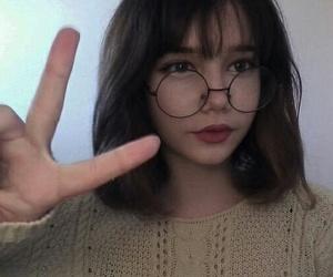 girl, korean, and short hair image