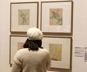 art, artsy, and beret image