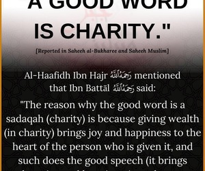 charity, sadaqa, and nice words image