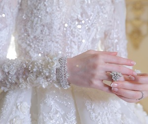 diamonds, dress, and white image