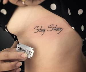 stay strong and tattoo image