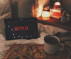 netflix, pizza, and tea image