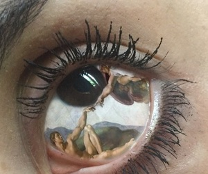 art, eye, and aesthetic image