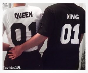 couple, Queen, and t-shirt image