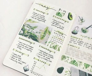 green, bujo, and bullet journal image
