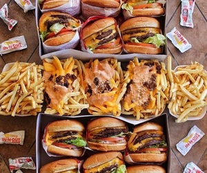 burger, food, and chips image