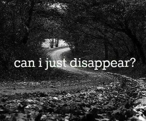 disappear, quotes, and sad image