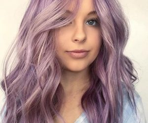 pastel hair, lavender hair, and lilac hair image