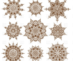 clipart, henna, and ornament image