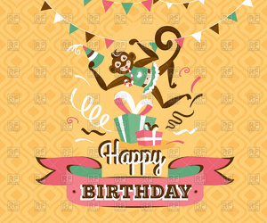 clipart, greeting card, and happy birthday image