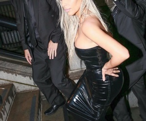 beauty, blonde hair, and kim kardashian image