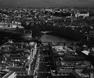 black&white, city, and italy image