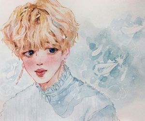 bts, kpop, and art drawing image