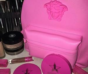 pink, Versace, and makeup image