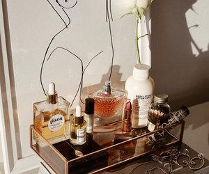 art, girl, and perfume image
