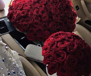 auto, car, and roses image