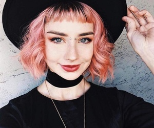 hair, Halloween, and pink image
