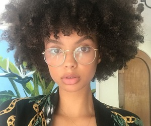 girl, melanin, and Afro image