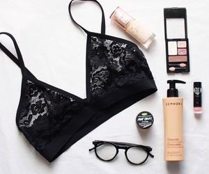 fashion, bra, and glasses image