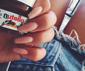 nails, nutella, and food image