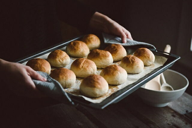 baking, bread, and food image