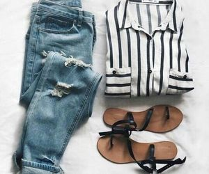 basic, denim, and outfits image