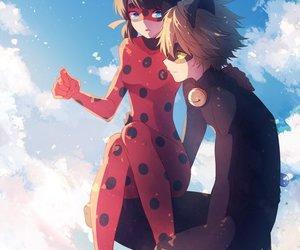 ladybug, Chat Noir, and miraculous ladybug image
