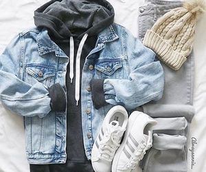 outfit, fashion, and beanie image