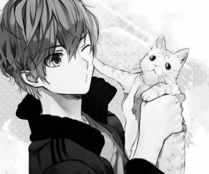 anime, cat, and cute image
