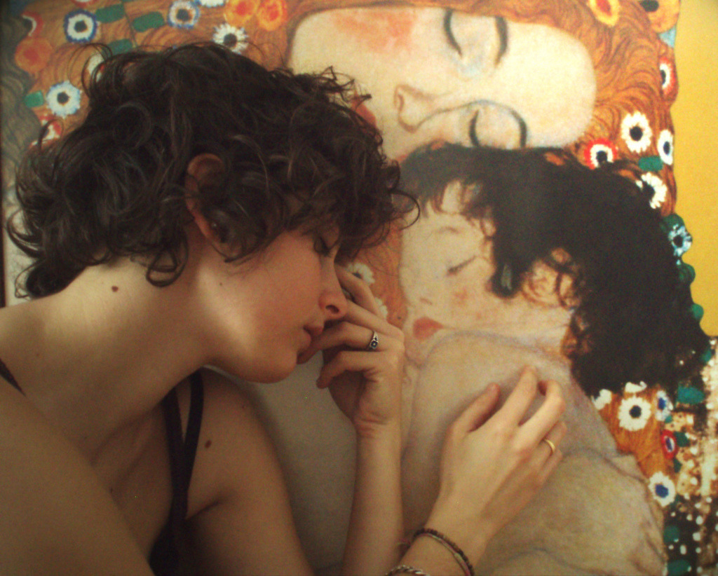 art, klimt, and painting image