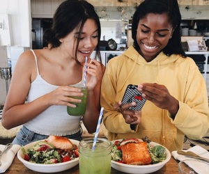 food, girl, and friends image