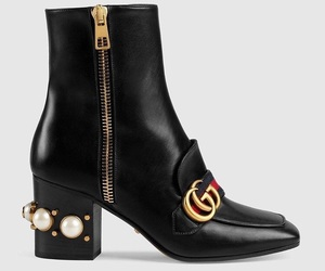 gucci, black, and boots image