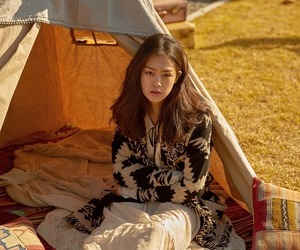 beautiful, girl, and tent image