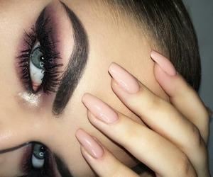 makeup, nails, and beautiful image