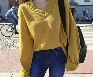 style, yellow, and clothes image