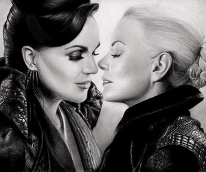 once upon a time, evil queen, and dark swan image