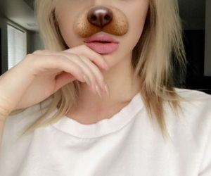 kristen, makeup, and snapchat image