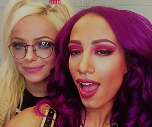 wwe, sasha banks, and liv morgan image