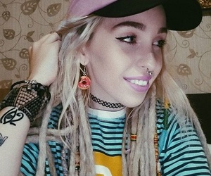 90s, doughnut, and dreadlocks image