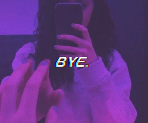 aesthetic, bye, and purple image