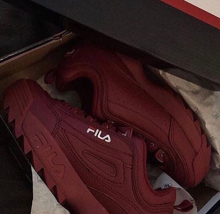 red, Fila, and shoes image