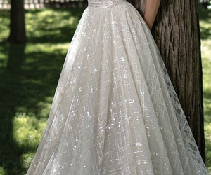 dress, wedding, and style image