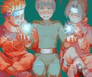 naruto, rock lee, and sasuke image