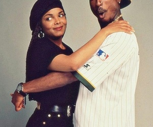 tupac, janet jackson, and poetic justice image
